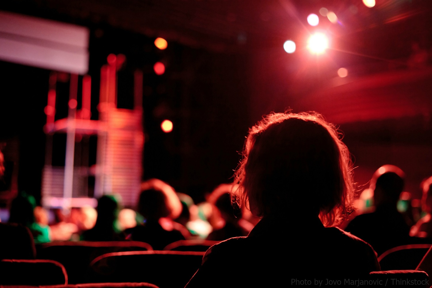 audience looking at stage
