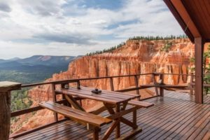 The Cliff House overlooking a beautiful canyon in Southern Utah