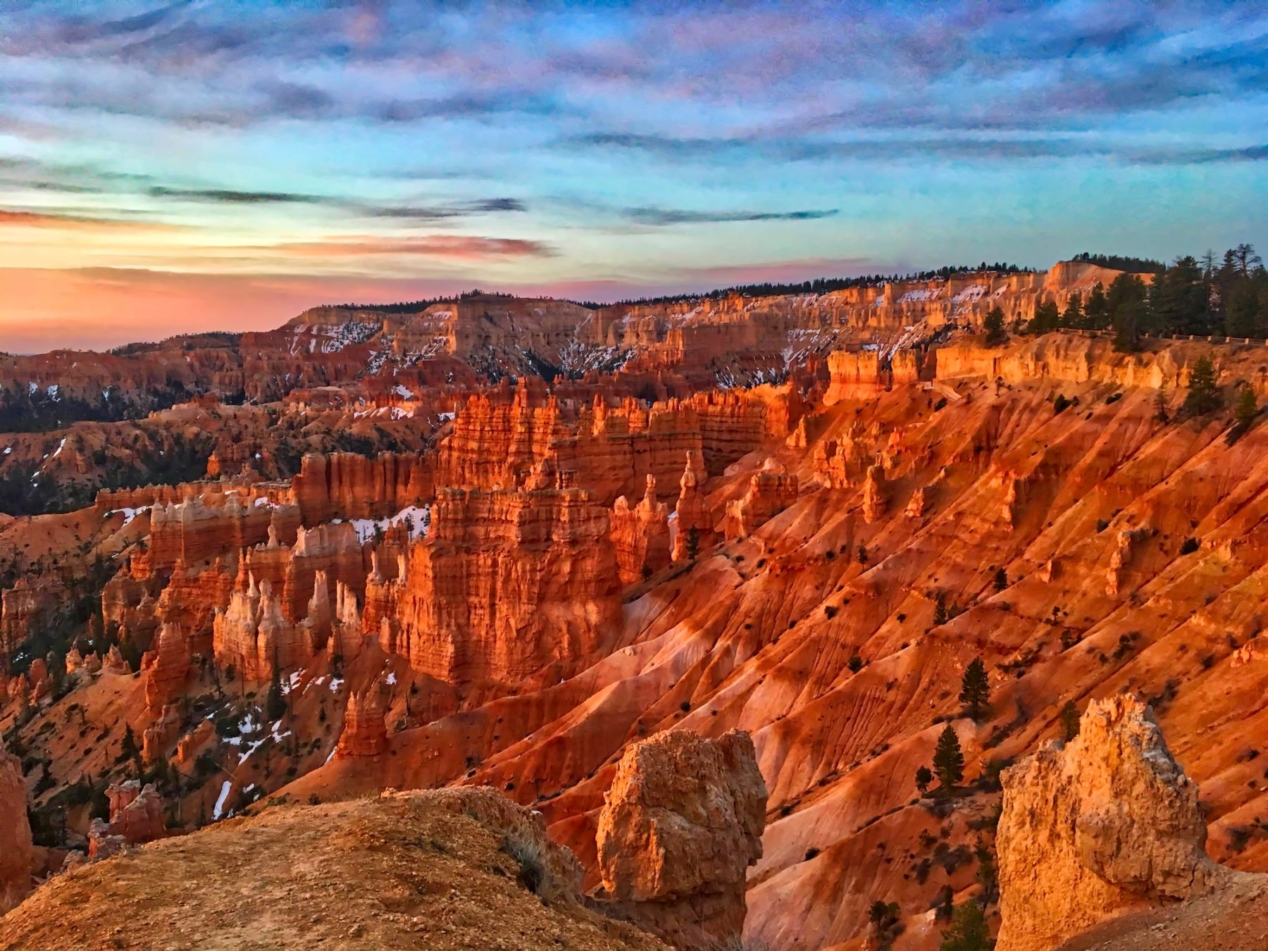 Bryce Canyon National Park during sunset